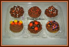 Chocolate Chip Cookie Dough Cupcakes with chocolate frosting.    TFL!