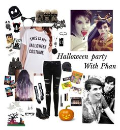 """""""Halloween party with Phan"""" by dr-hopepotterwho on Polyvore featuring Miss Selfridge, Proenza Schouler, Elizabeth Arden, By Terry, Chanel, ASOS, Accessorize and Hershey's"""