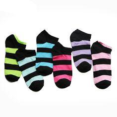 10pair=20pcs Women Socks,Fluorescence Cotton Sock,Candy Color Fashion Striped Ankle Boat Short Socks Art Sokken Calcetines Mujer #Affiliate