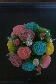 Rose cupcake flower pot