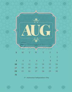 Our August 2014 calendar.
