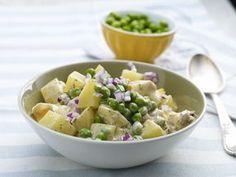 Sałatka ziemniaczana z groszkiem. Wydrukuj lub pobierz PDF z przepisem. Food Inspiration, Potato Salad, Healthy Recipes, Healthy Food, Grilling, Salads, Potatoes, Cooking, Ethnic Recipes