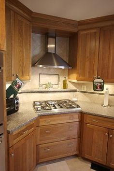 Corner Gas Cooktop | CORNER COOKTOP Design Ideas, Pictures, Remodel, and Decor