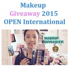 Makeup Giveaway 2015 OPEN International ^_^ http://www.pintalabios.info/en/youtube-giveaways/view/en/229 #International #MakeUp #bbloggers #Giweaway