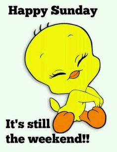 Tweety Bird Says: Happy Sunday - It's Still The Weekend!