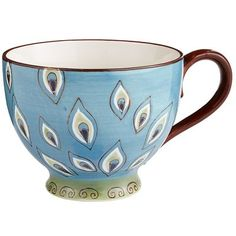 Peacocks are so stylish now, and this splendid mug allows you to take the trend to your breakfast table, desk or patio. Mmmm. Coffee or tea, anyone?