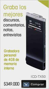 ICD-TX50 | Grabadoras Personales y Periodista | Car audio, MP3 y Audio Portatil | Sony Store Online