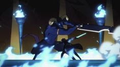 『アニメのソードアート・オンライン2で銃弾を剣で弾いて防ぐ主人公のGIF画像』の関連gif画像|ソードアート・オンラインのキリトがボスと戦っているGIF画像 created by gif_research28