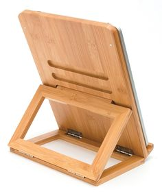 Lipper International Bamboo Folding Easel Stand for iPad | zulily