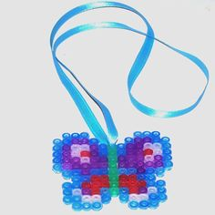 Butterfly Perler Bead Necklace by CreativeXpression1
