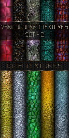 Varicoloured textures set - 2 by DiZa-74.deviantart.com on @DeviantArt