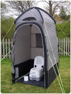 Camping Shower Diy, Tenda Camping, Camping Glamping, Camping Stove, Camping Life, Camping Toilet Tent, Beach Camping, Winter Camping, Tent Trailer Camping