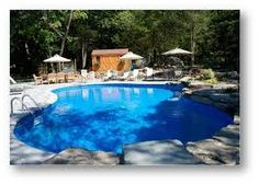 semi inground pool ideas - Google Search