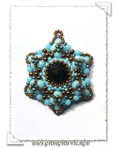 Ewa gyöngyös világa!: Kreatív Csillag minta / Creative Star pattern