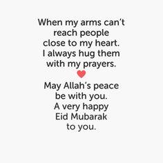 happy eid mubarak beautiful wishes with Love and prayers