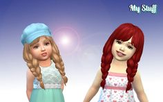 Spring Braids for Toddlers at My Stuff • Sims 4 Updates
