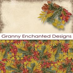 Autumn Woods: 12 Digital Papers and 3 Autumn by GrannyEnchanted scrapbook paper