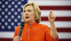 Democratic presidential candidate Hillary Rodham Clinton speaks at a town hall meeting in North Las Vegas, Nev., on Aug. 18, 2015. (Associated Press)