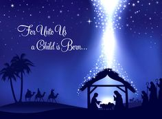 christmas cards religious born christ the lord | For Unto Us | Religious Christmas Cards