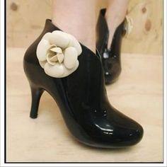 Chanel rain boots!!