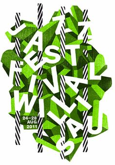 Creative type treatment for Jazz Festival Willisau: by Annik & Paula Troxler