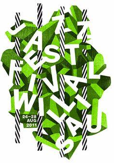 Creative type treatment for Jazz Festival Willisau by Annik & Paula Troxler.