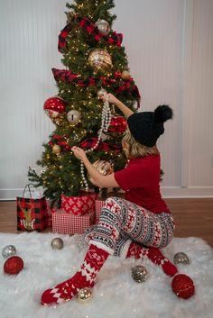 Xmas Pajama Looks Christmas Morning, Christmas Tree, Xmas Movies, Movie Tees, Holiday Pajamas, Holiday Decor, Teal Christmas Tree, Xmas Trees, Christmas Trees