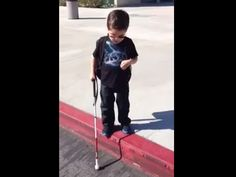 Blind boy's giant step off curb goes viral