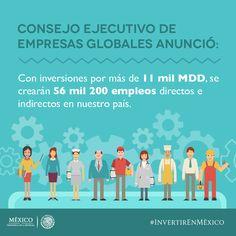 Se crearán 56 mil 200 empleos directos e indirectos #InvertirEnMéxico