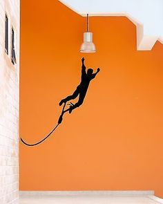 Wall Stickers Vinyl Decal Bungee Jumping Extreme Sports Coolest Decor (ig956)