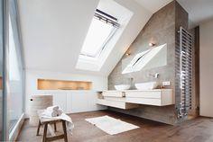 Dachaufstockung eines Einfamilienhauses : Moderne Badezimmer von WSM ARCHITEKTEN