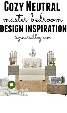Neutral master bedroom inspiration - With links to all of the items!