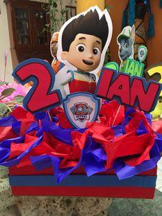 Centro de mesa Ryder 3rd Birthday, 1st Birthday Parties, Paw Patrol Birthday, Paw Patrol Party, Paw Patrol Decorations, Birthday Party Centerpieces, Pokemon Party, Ideas Para Fiestas, Birthdays