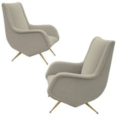 Very Rare Pair Of Armchairs Designed By Aldo Morbelli | From a unique collection of antique and modern armchairs at http://www.1stdibs.com/furniture/seating/armchairs/