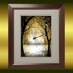 Fantasy Art  Tree Art  Dragonfly Art  Print  8 x 10  by RusticGoth, $13.00