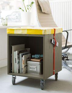 DIY stool #closet - Poef #kast #krukje. Kijk op www.101woonideeen.nl