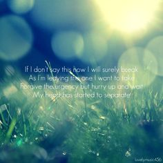 """""""Look After You"""" ~ The Fray  Love this song. It's packed with emotion."""