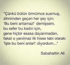 Sabahattin Ali sözleri