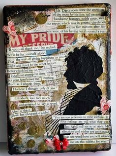 Pride and Prejudice-inspired journal page/cover =)