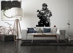 Zombie Soldier Wall Decal