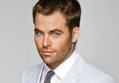 Chris Pine. DEFINITELY who I would pick for the role of Christian Grey if it were up to me. He needs longer hair though ;)