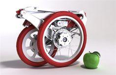 Bicicleta do tamanho de uma mala