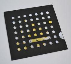 """CARTE DE VOEUX 2016 originale avec son enveloppe """"graphik collection"""" : Cartes par designbyflohan"""