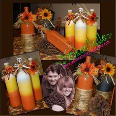 Fall Bottle Decor