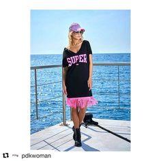 """""""La moda refleja quién eres"""" eres atrevida????? Vestido y gorra @pdkwoman"""