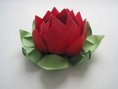origami lotus flower - 40 Origami Flowers You Can Do  <3 <3