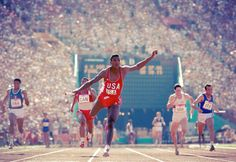 Carl Lewis, 1984 Summer Olympics photographed by Neil Leifer