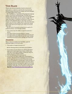 Dungeons & Dragons — People were saying I should make some Magic Items. Dnd Dragons, Dungeons And Dragons 5e, Dungeons And Dragons Homebrew, Fantasy Weapons, Fantasy Rpg, Pen & Paper, Dnd Classes, Dnd Funny, Dnd 5e Homebrew