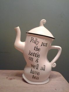 Taylor's of Harrogate Teapot.  Polly put the kettle on….was a favorite saying of my Mom, as she went to put the kettle on for tea.