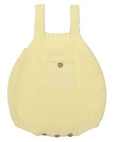 Ranita de punto en amarillo, para bebé y recién nacido, 100% algodón! #amarillo #bebe #modabebe #baby #babywear #babyfashion #cotton